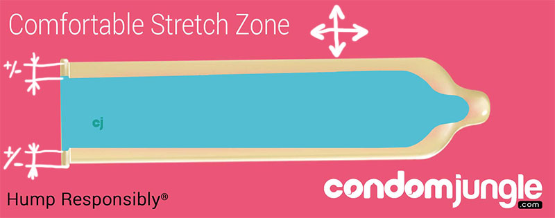 Condom Comfortable Stretch Zone