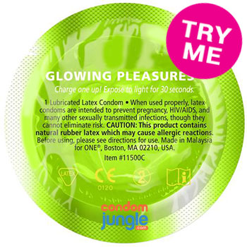 glowing pleasures condoms